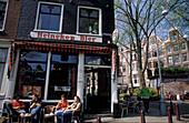 Cafe at Prinsengracht, Amsterdam, Netherlands, Europe