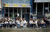 Streetcafe at Keizersgracht, Amsterdam, Netherlands, Europe