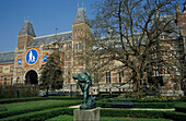 Museumsplein with Rijksmuseum, Amsterdam, Holland, Netherlands