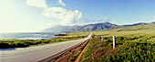 Coastal road in the sunlight, California, USA, America