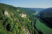 Danube breach near Beuron, Baden-Wuerttemberg, Germany