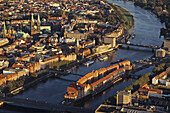 aerial photo, city of Bremen in northern Germany