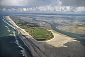 aerial photo of Juist, East Frisian Island, Lower Saxony, North Sea, northern Germany