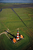 Lighthouse Westerhever, North Frisia, Schleswig-Holstein, Germany