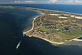 aerial photo of North Frisian island, Sylt and the town of List, Schleswig Holstein, North Sea, Germany