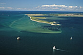 aerial photo of sailing boats, Fehmarn island, Baltic Sea, Schleswig Holstein, northern Germany