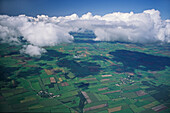 Fly over North German Plain, Lower Saxony, Germany