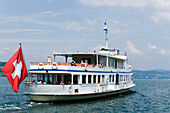 Motorship MS Rigi on Lake Lucerne, Stansstad, Canton of Nidwalden, Switzerland