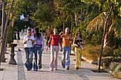 spain Costa l Sol Nerja Teenager strolling over the promena