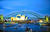 Australien, Sydney, Opera House, Harbour Bridge