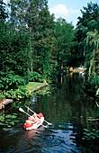 Canoes in canal, Little Venice, Berlin Rahnsdorf, Berlin