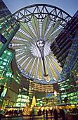 Berlin Potsdamer Platz, Sony Center, Atrium, Christmas coration, christmas tree