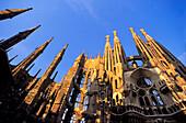 Sagrada Famlia by Gaudi,Tower,Pinacles