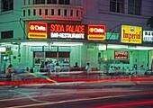 Soda club, Avenida central in the Evening, San Jose, Costa Rica