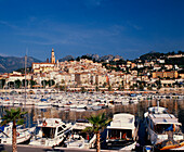France, Alpes Maritime, Menton ,old town port ,  yachting harbour