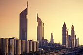 Dubai Sheikh Zayed Road skyline