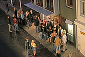 Iceland, Reykjavik, nightlife, Club Vegamot, people queeing