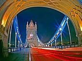 Eveneing, Tower Bridge, Thames, London, England