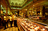 Harrods warehouse, delicatessen trade, London, England