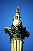 UK , London, trafelgar square, Lord Nelson sculpture