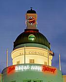 New Zealand, South island, Napier, tower, art nouveau in twilight