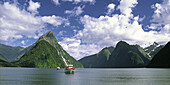 New Zealand Milford  Sounds , Mitre peak Fjord Panorama