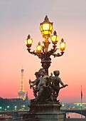 Lantern, Eiffel Tower, Pont Alexandre III, Paris