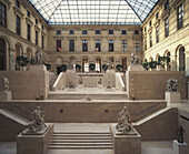 France,Paris,Louvre,atrium, sculptures