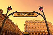 France Paris  Metro entrance  sign art nouveau