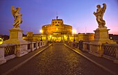 Italien, ItalienLY,Rome, Angel Castel bridge