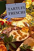 Switzerland,Tessin,Lugano,old city center,Via Pessina, delicatessen, Porcini