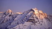 Switzerland, swiss alps,Bernese alps,Mönch, Top of europe