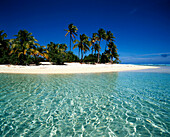 South pacific, Cook Islands, Aitutaki lagoon , One foot Island, dream beach