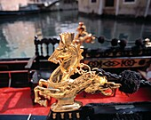 Golden horse on Gondola, Venice, Italy