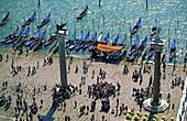 Italy Venice Riva gli Schiavoni , Canale Gran Riva gli Schiavoni Gondola, pier