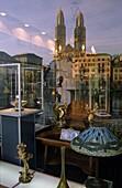 Switzerland , ,Zürich, Grossmunster, reflection in jewellery shop