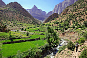Taghia valley and village, Atlas Mountains, Morocco, North Africa