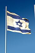 The flag of Israel, Herzliya, Israel