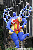 Colourful sculpture by Niki de Saint Phalle on the Boulevard Royal, Luxembourg, Luxembourg, Europe