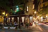 Sant Jaume, outdoor Cafe  Barrio del Carmen evening, Valencia, Spain
