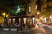 Sant Jaume, outdoor Cafe  Barrio del Carmen evening, Valencia, Spain