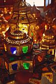 A lamp shop, Souk, Marrakech, Marocco, Africa