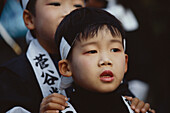 A japanese boy, child attending a ceremony, Japan