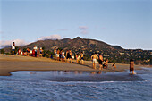 Beach life, people on the beach, Pie de la Cuesta, near Acapulco, Mexico, America