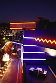 Discotheque Palladium at night, Acapulco, Mexico, America