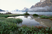 View of Bow Lake, Rocky Mountains, Alberta, Canada