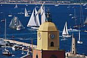 Sailing boats in Golfe de St. Tropez, St. Tropez, Cote D'Azur, Provence, France