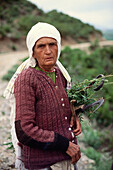 A local woman, farmer, Mountains, Albania