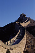 Tourists at the Chinese Wall, sight, landmark, near Badaling, China