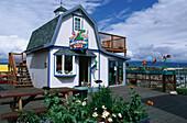 A house, toy shop, on Homer, Homer Spit, Kachemak Bay, Kenai Peninsula, Alaska, USA